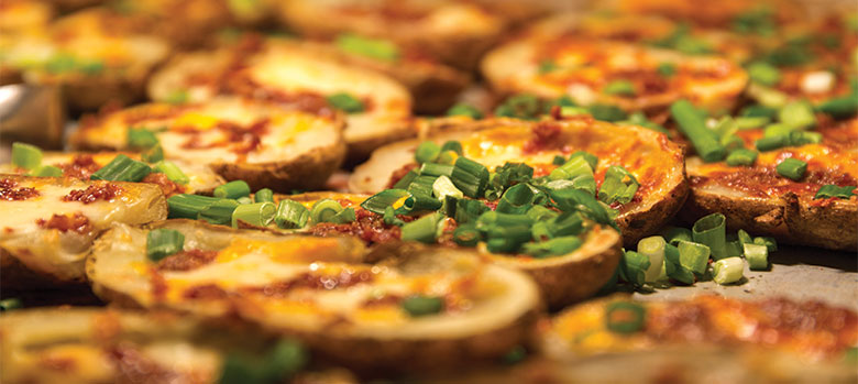 potato skins with scallions